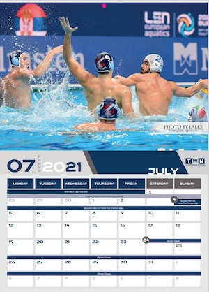 Calendario 2021 waterpolo